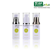 2017 Popular 30ml 50ml Cylinder Plastic Airless Cosmetic Bottles for Skin Care Packaging