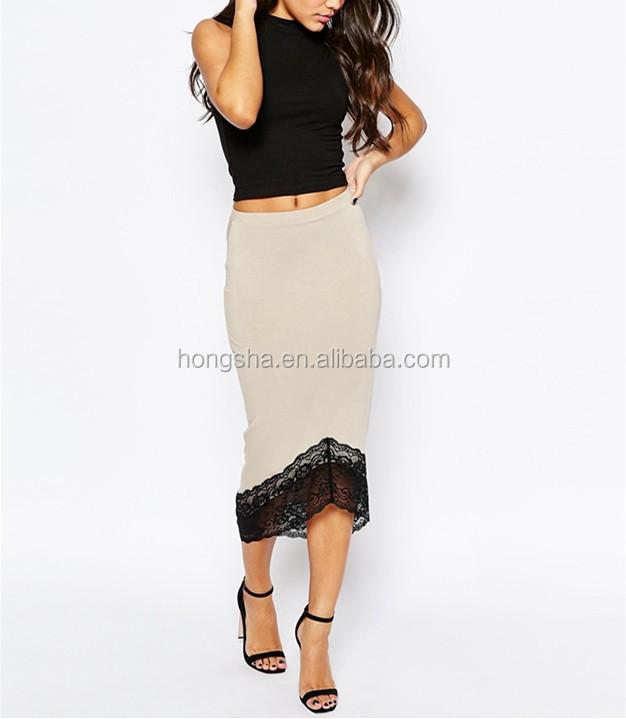 Long Skirts Designs 2016 Women Fancy Lace Trim Pencil Skirt Hss3791 - Buy Long Skirts Designs ...