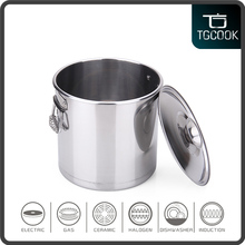 Large capacity high quality 555 stainless steel stock pot with spring ear