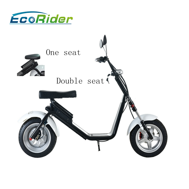 60V 12AH off road 2 wheel electric scooter with DISC brake