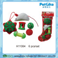XMAS Plush Catnip Toy For Cat Wholesale Pet Stocking