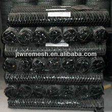 PVC black poultry wire netting/Hexagonal Wire Mesh