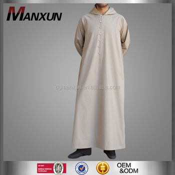 Latest muslim men hooded thobe cheap saudi men thobe