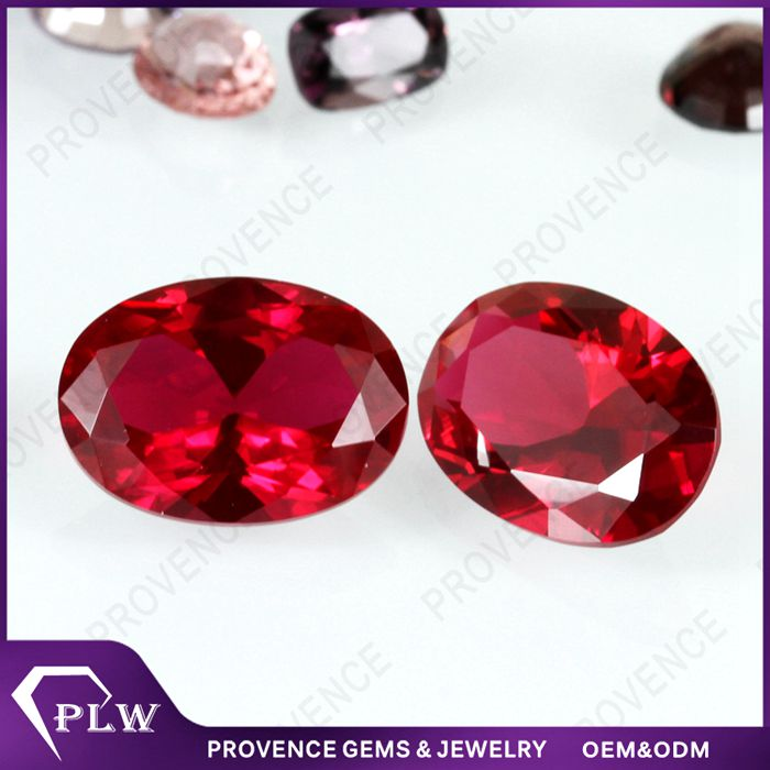 Wholesale Price Oval Red star ruby rough Stone