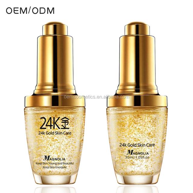 OEM Private Label Anti Aging Repair Face Eye 24K Gold Serum Skin Care