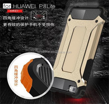 PC TPU Case 2 in 1 Powerful Hard Heavy Duty Armor Phone Case For Huawei Ascend p8 Lite