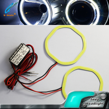 B-deals square cob angel eyes headlight cob halo rings for all cars