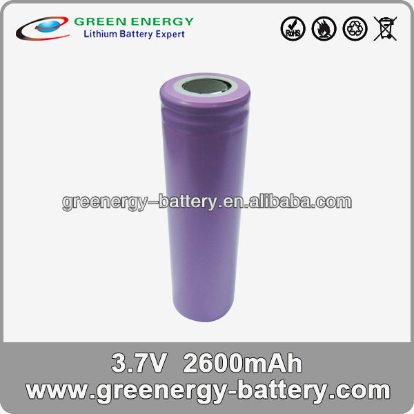 li ion 18650 battery manufacturer ICR18650H2 3.7v 2600mah lithium ion battery