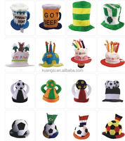 Party Carnival Funny Crazy clown rainbow jester hat with Horns