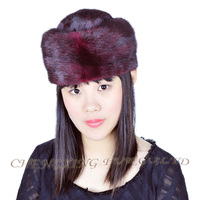 CX-C-50A High Quality Beanie In Stock Women Cap Mink Fur Winter Fur Custom Hat