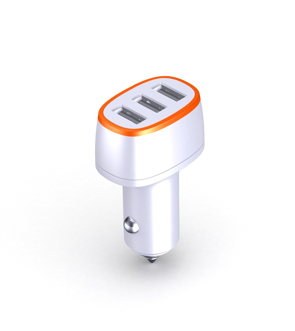 New quick charge QC3.0 3 ports car charger 36W