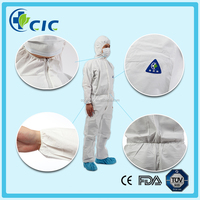 M size white color fire proof breathable Polyester Cotton Coverall health products