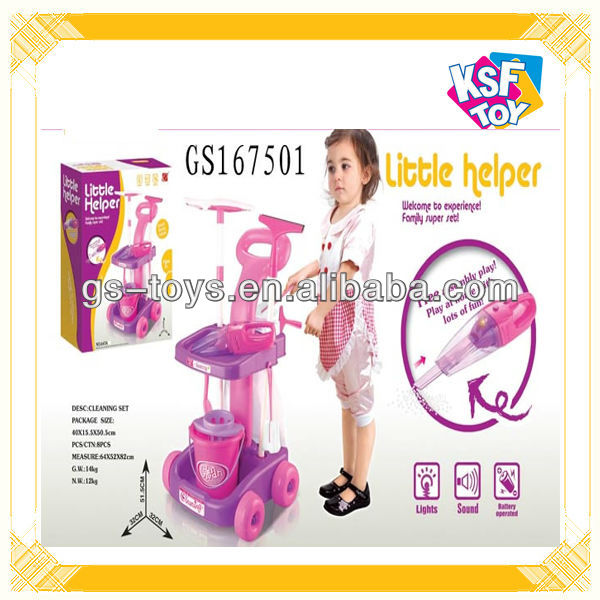 Popular Electric Cleaner Machine Toy For Kids With Light