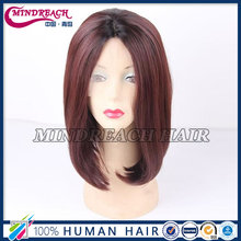 Mindreach 100% human hair short bob lace front wig
