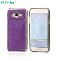Free sample cell phone case TPU+PU case for Samsung Galaxy J5 wallet case
