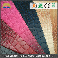 hot sale snake crocodile pvc synthetic leather for shoes handbags