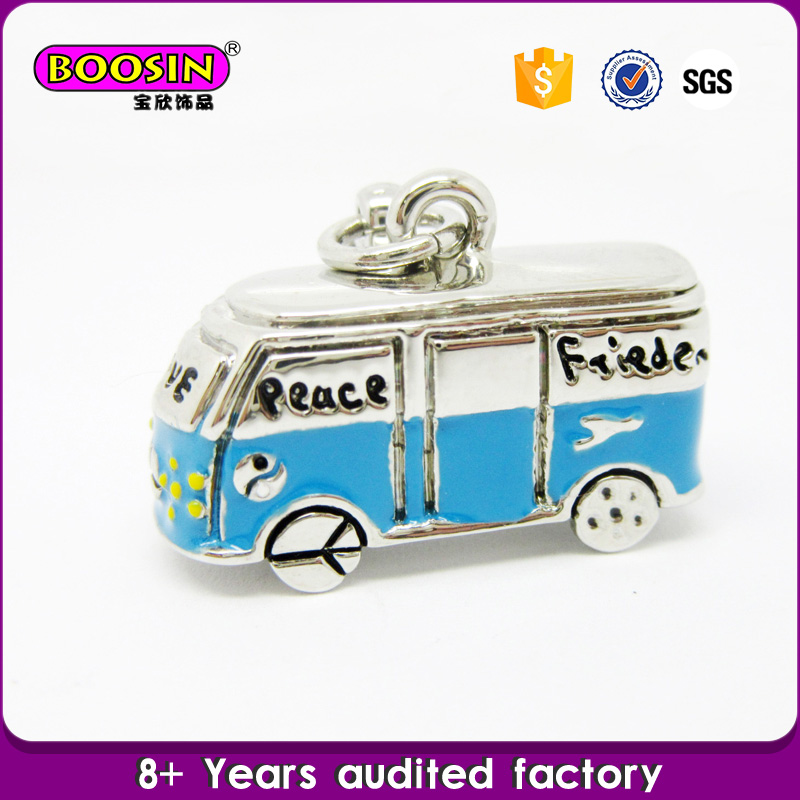 Wholesale OEM Jewelry Alloy Double-decker Bus Pendant