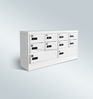 10 doors phone charging station hot selling phone charging locker with 10 unit grids