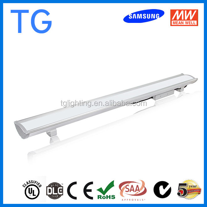 UL cUL DLC qualified 160W industrial pendant light, led linear high bay light, IP65