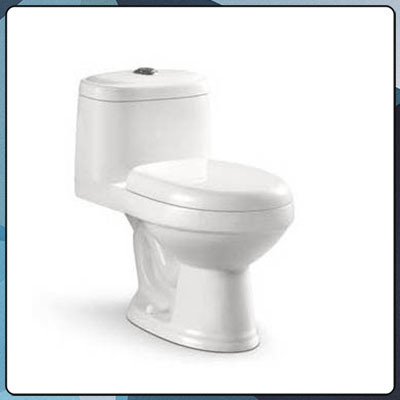 Bathroom good flush function siphonic one-piece toilet B49
