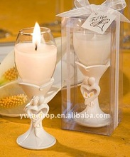 Wine Cup Candle with Wedding Couple shaped Hand shank wedding favor