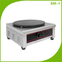Industrial Single Plate French Electric Pancake Crepe Machine With CE Certified