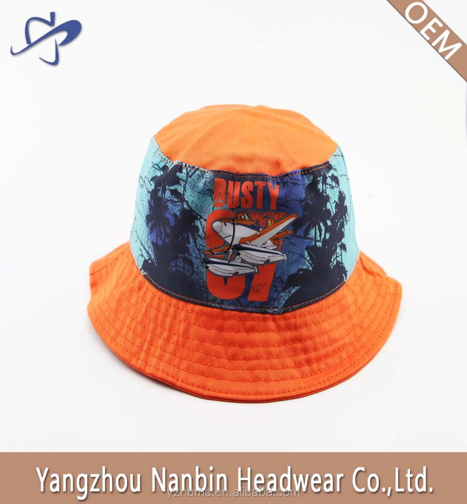 OEM Hot sale high quality custom cheap poplin bucket hat for gift promotion with sublimation transfer printing