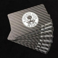 Carbon Fiber Business Cards With 4c