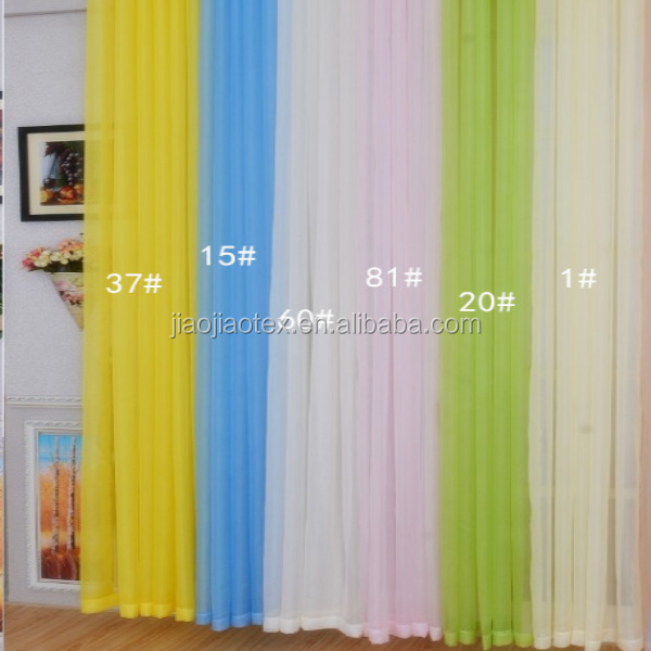 polyester voile fabric/continuous curtain fabric/cheap curtain fabric