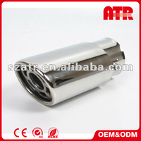 Wholesale surface polishing car stainless steel universal exhaust muffler