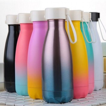 350ml colorful insulated hot water drinking vacuum stainless steel thermal thermos bottle for kids