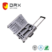 Portable OEM Aluminum luggage Tool Trolley Case Box With Wheels