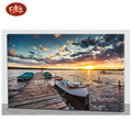 Beautiful Sunset LED  Lighted Frameless  Wooden Canvas Decoration Painting For Wall Decoration