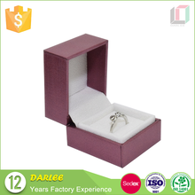 custom logo printed purple ring jewelry boxes with foam insert