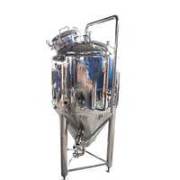 Stainless steel conical fermenter hopper tank with manhole for brewery equipment