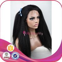 Brazilian Human Hair Italian Yaki Wig Afro Kinky Curly Glueless Silk Base Full Lace Wig with Baby Hair for Black Women