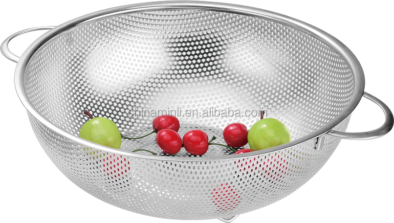 stainless steel colander fruit basket for kitchen