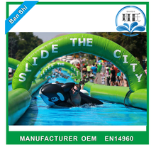 Professional manufacturer giant 1000 ft inflatable water slide, slip & slide the city