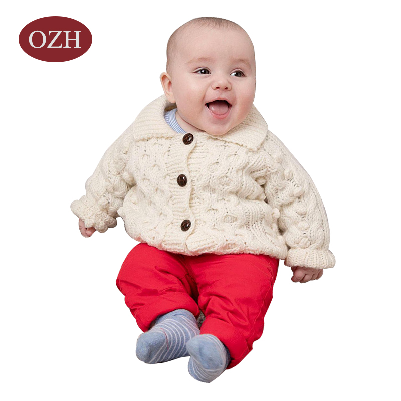 Winter long sleeve baby cardigan sweater
