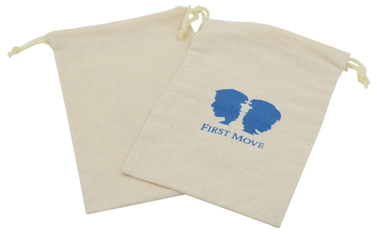 Promotional Screen Printed Cotton Drawstring Pouch Bag