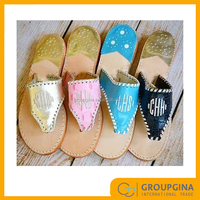Personalized Adorable Monogrammed Palm Sandals