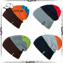 Winter Snowboard Skiing Skating Warm Knitted Cap Beanies Snap Slouch Beanie Hat