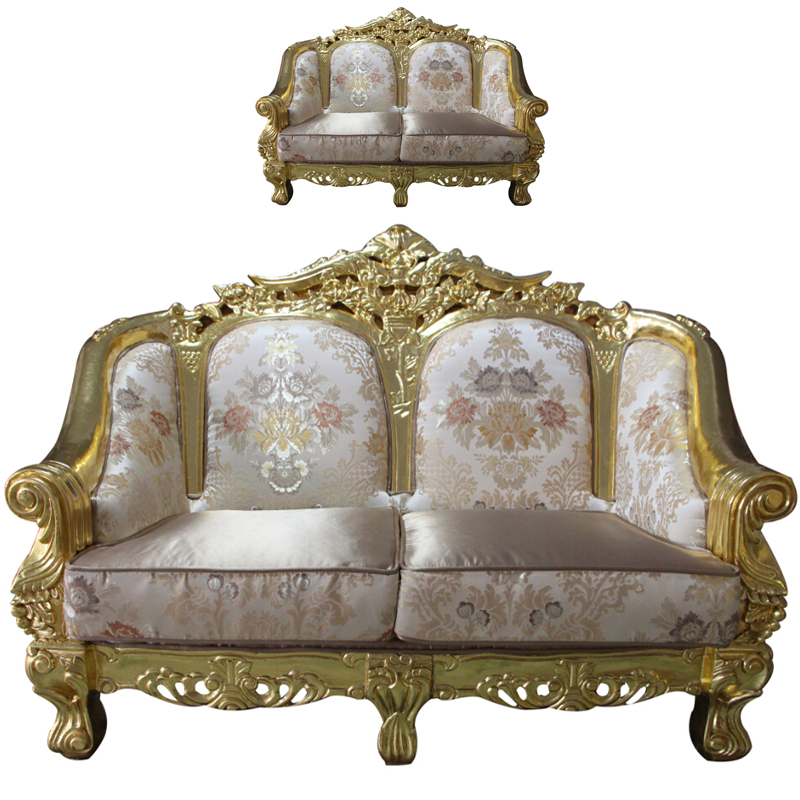 MOQ=1set Foshan Cheap Carving Resin Sofas for Sale, Neoclassic Vintage Living Room Egyptian Style Furniture