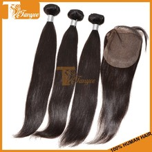 100% malaysian straight virgin hair with bleached knots full lace closure DHL free shipping