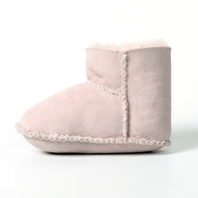 Wholesale high quality winter sheared sheepskin shoes for kids