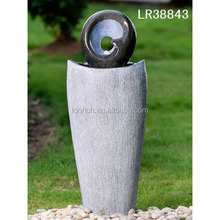 Home & garden decor polyresin water fountains outdoor ornament with light