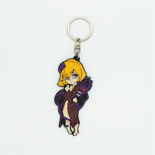 Top quality custom anime sexy pvc figure keychain