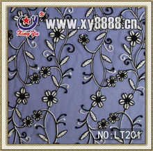 Polyamide Mesh Embroidery Guipure Lace in Organza
