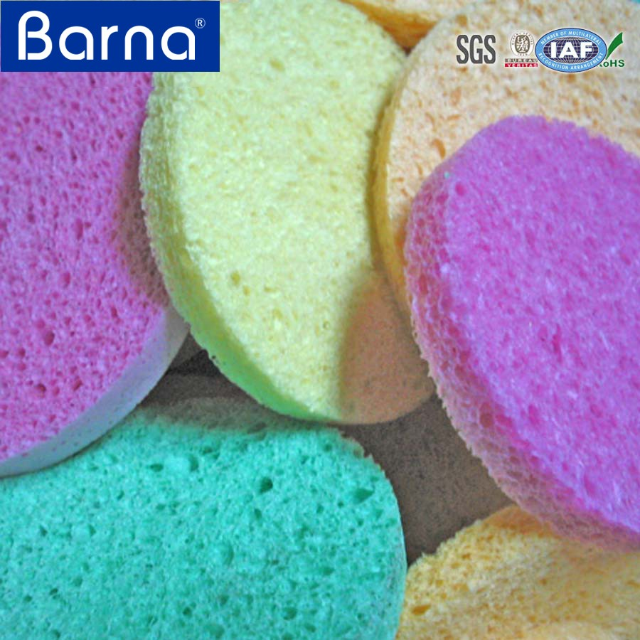 comfortable resilient soft fine surface cellulose sponge for washing/bathing face body