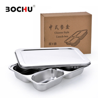 Stainless Steel Canteen Serving Tray Dinner